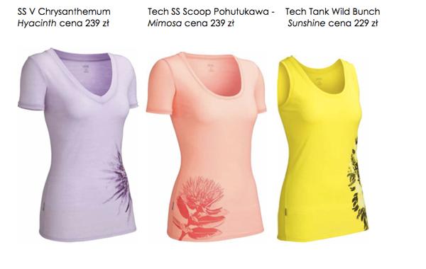 Damska kolekcja koszulek marki Icebreaker