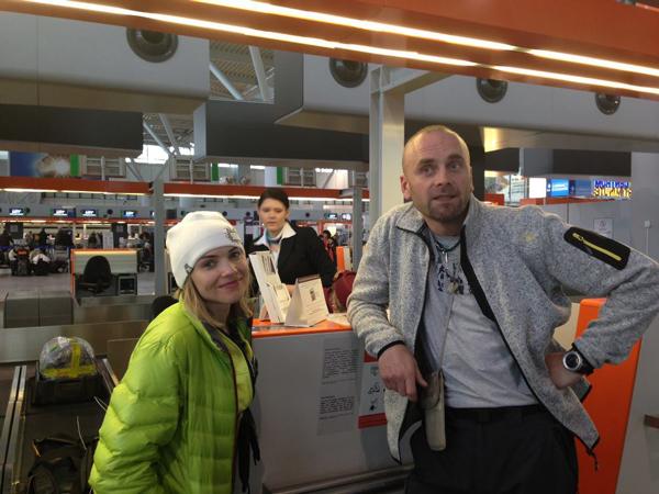Kinga i Rafał na lotnisku (fot. kingabaranowska.com)