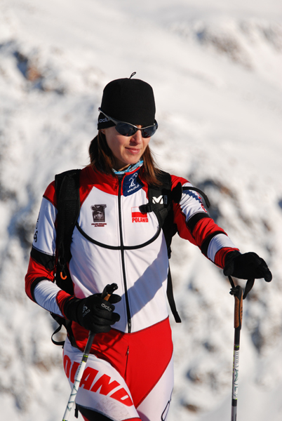Klaudia Tasz podczas przygotowań przed startem (fot. Bartosz Bartyzel)