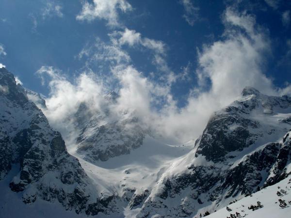 Widoki podczas wycieczki skitourowej po słowackich Tatrach (fot. Piotr Sztaba, instruktor PZA)