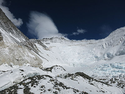 Miejsce konfliktu - zachodnia ściana Lhotse(fot. Chad Kellogg)