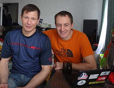Aleksiej Bołotow i Denis Urubko (fot. arch. Denis Urubko)