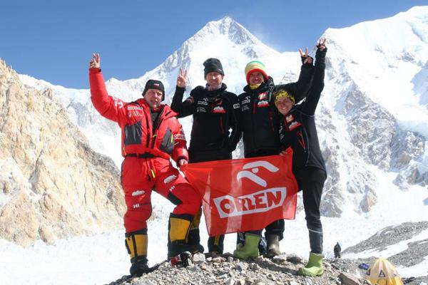 Uczestnicy wyprawy, od lewej: Artur Hajzer, Janusz Gołąb, Adam Bielecki, Agna Bielecka