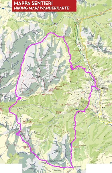 Cortina Trail - mapa
