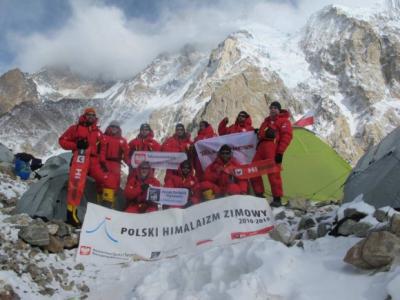 Cała ekipa gotowa do ataku szczytowego na Broad Peak (fot. Polski Himalaizm Zimowy)
