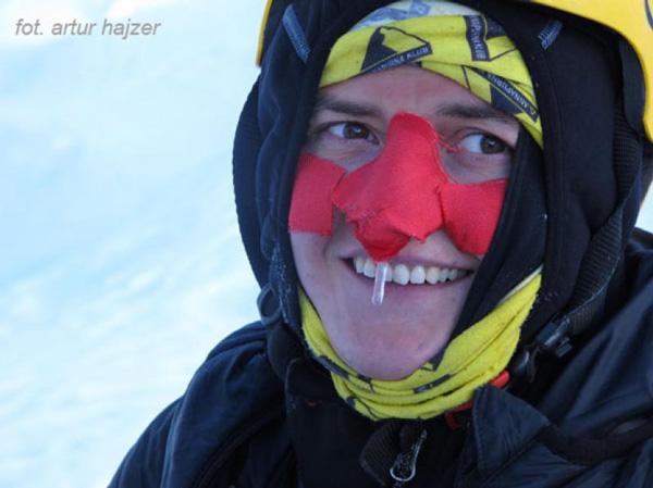 Agna Bielecka w drodze do czwórki podczas wyprawy na Lhotse (fot. Artur Hajzer)