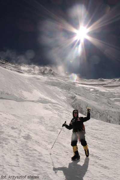 Artur Hajzer podczas wyprawy na Lhoste (fot. Krzysztof Starek)
