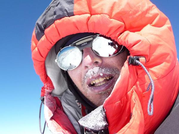Marcin Kaczkan na szczycie Nanga Parbat (fot. Polski Himalaizm Zimowy)