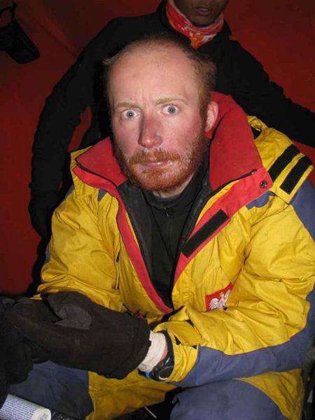 Maciej Stańczak po zakończeniu akcji górskiej (fot. Adam Bielecki)