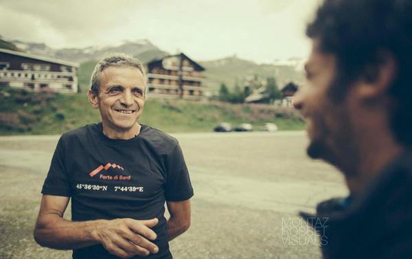 Bruno Brunod życzy Kilianowi powodzenia  (fot. summitsofmylife.com)