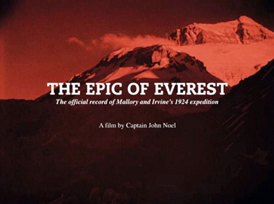 "Plakat filmu ""The Epic of Everest"""