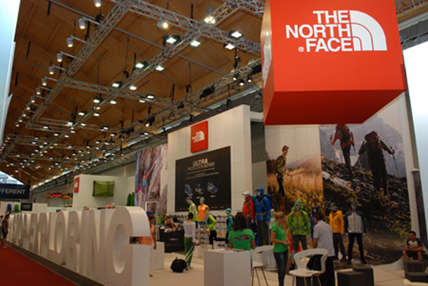 Stoisko marki The North Face na targach OutDoor 2013 (fot. Outdoor Magazyn)