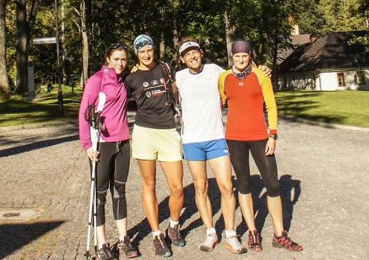 Simone Moro podczas treningu w Zakopanem z Anną Figurą (fot. arch. Anna Figura/Facebook)