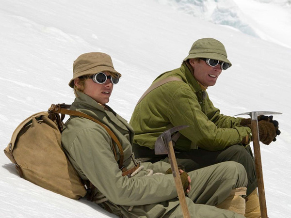 "Podczas kręcenia filmu ""The Wildest Dream"" - od lewej Houlding i Conrad Anker (fot. leohoulding.com)"