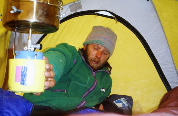 Artur Hajzer na wyprawie na Everest, rok 1989 (fot. arch. Janusz Majer)