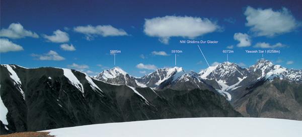 Zdjęcie rejonu z Panorama Peak w kierunku północnym (fot. Detlef Seelig)