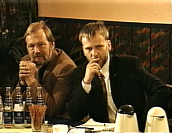 Albrecht von Dewizt i Artur Hajzer podczas konferencji prasowej z otwarcia nowej siedziby firmy Alpinus w Świętochłowicach