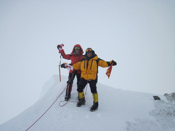 Na szczycie Mt. Vinson w 2010 roku (fot. arch. Izabela Smołokowska)