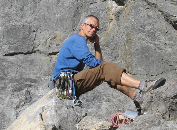 Rafał w skałkach Barriere Mountain (fot. Janusz Kurczab)