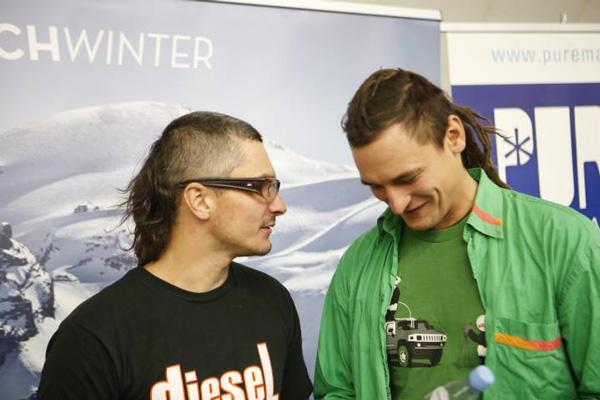 KFG 2013, panel dyskusyjny dotyczący wyprawy na Broad Peak i himalaizmu zimowego - Artur Małek i Adam Bielecki (fot. Wojciech Lembryk/KFG)