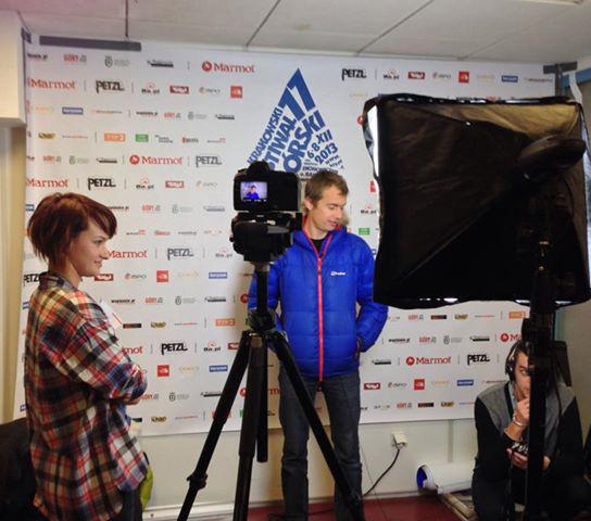 Przed filmowym wywiadem z Anną Orłowską (fot. Olek Urbański)