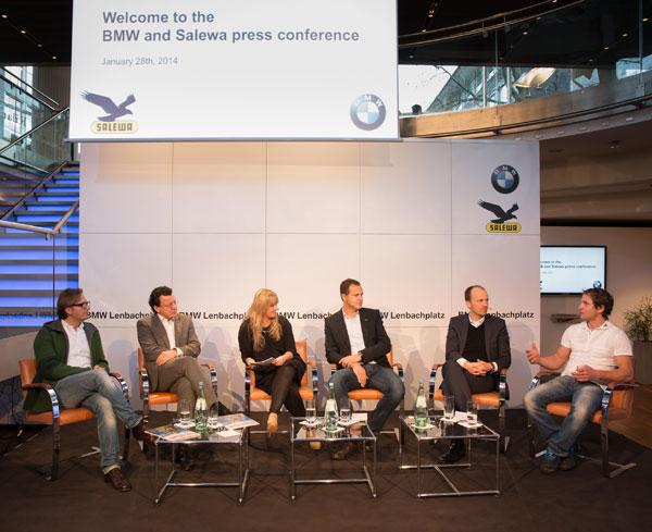 Konferencja prasowa o współpracy BMW i Salewy na ISPO Munich 2014