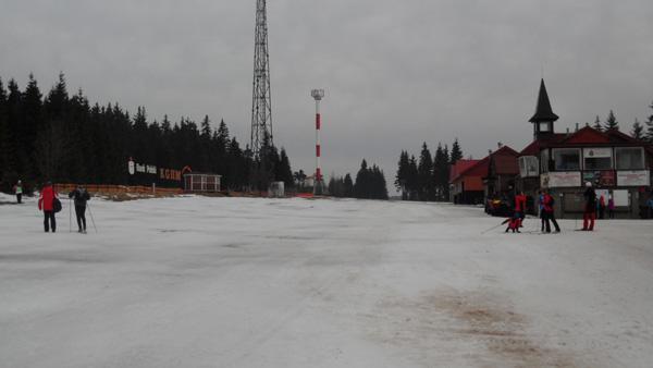 Śniegu na Polanie Jakuszyckiej jest coraz mniej… Nowy termin SNS-a zostanie podany jeszcze w tym tygodniu (fot. Stacja Jakuszyce)
