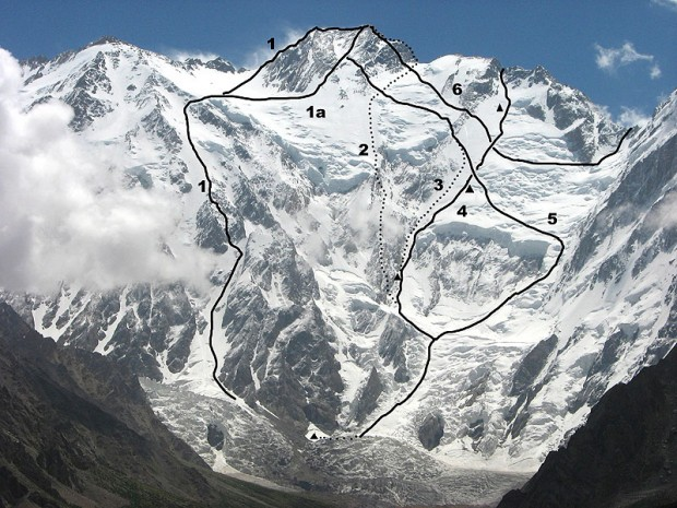 Nanga Parbat – drogi na flance Diamir (fot. aaj.americanalpineclub.org)