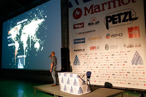 Marcin Tomaszewski na 11. Krakowskim Festiwalu Górskim (fot. Wojciech Lembryk/KFG)