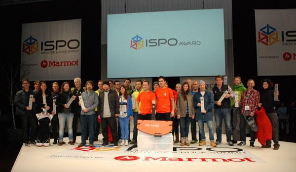 Wszyscy zwycięzcy nagrody ISPO GOLD AWARD w kategorii outdoor (fot. Outdoor Magazyn)