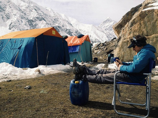 Baza wyprawy North Face (fot. Emilio Previtali)