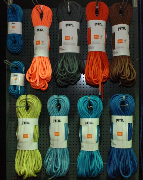 Kolekcja lin marki Petzl (fot. Outdoor Magazyn)