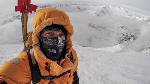 David Göttler między obozami III i IV na wysokości około 6800 m (fot. David Göttler)