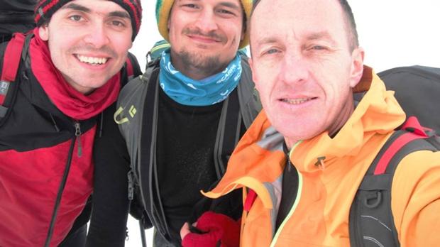 Kacper Tekieli, Adam Bielecki i Denis Urubko w Tatrach (fot. arch. Kacper Tekieli)