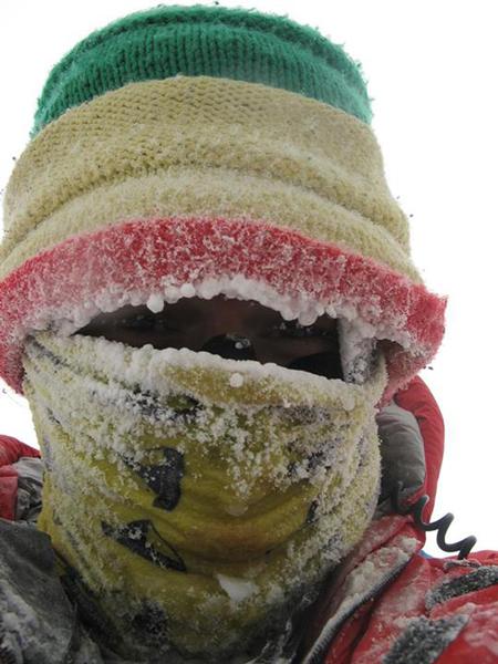 Adam Bielecki podczas wyprawy na Kanczendzongę (fot. Adam Bielecki)