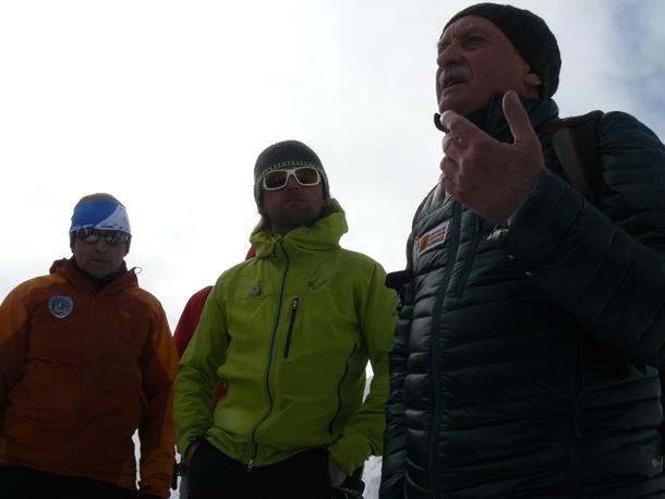 Od lewej: Ludwik Wilczyński, Grzegorz Bargiel i Krzysztof Wielicki (fot. Outdoor Magazyn)
