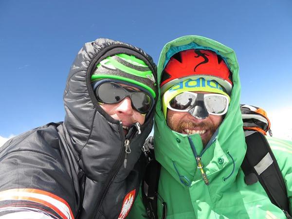Adam Bielecki i Alex Txikon na 7200m (fot. arch. Alex Txikon)
