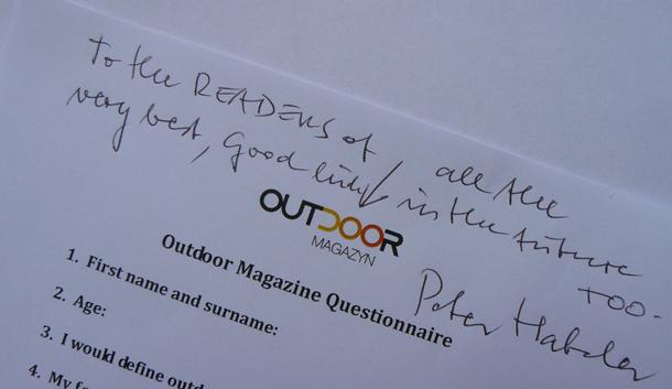 Pozdrowienia od Petera dla Was - wszystkich Czytelników Outdoor Magazynu! :)