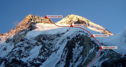Broad Peak Middle (fot. Polski Himalaizm Zimowy)