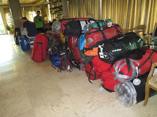 Bagaże wypraw (fot. Polski Himalaizm Zimowy)