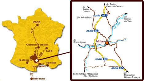 Francja plan Millau
