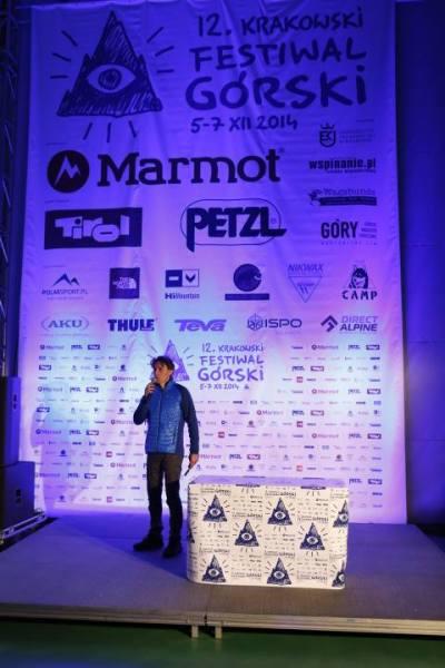 Piotr Turkot, dyrektor programowy KFG, wita uczestników festiwalu (fot. Wojciech Lembryk)