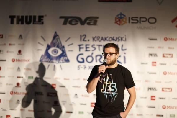 Olek Ostrowski podczas prelekcji (fot. Wojciech Lembryk)