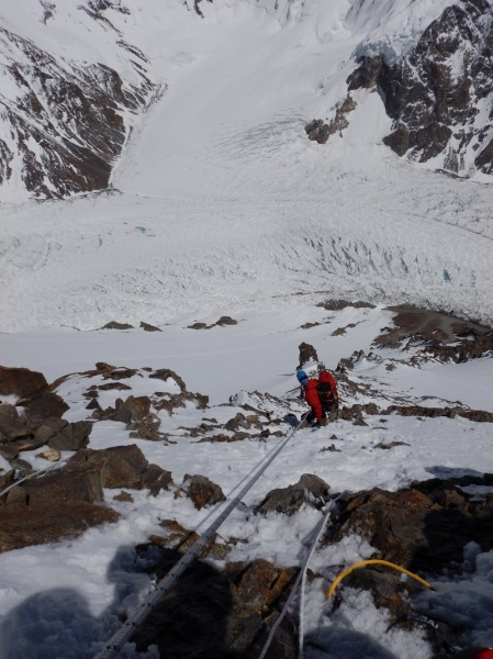 W drodze do C2, wysokość 6500 m (fot. arch. Artur Małek)