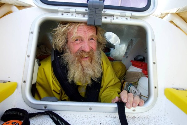 Olek Doba w swoim kajaku (fot. Nicola Muirhead)
