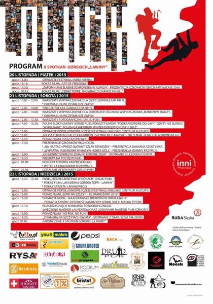 Spotkania Gorskie Lawiny 2015 Plakat