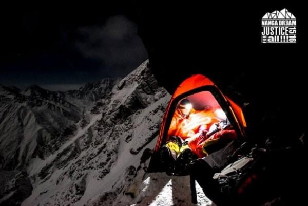 Obóz pierwszy założony na wysokości 5500 m