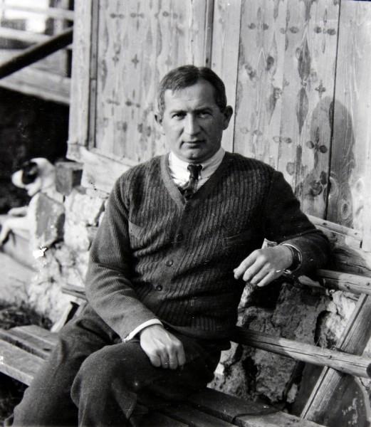 Józef Oppenheim, reprodukcja zdjęcia wykonanego przez Zofię Zwolińską około 1923 roku; ze zbiorów Muzeum Tatrzańskiego (fot. Marek Podmokły/Agencja Gazeta)
