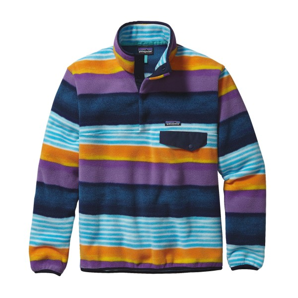 Na zdjęciu powyżej bluza polarowa PATAGONIA M's Lighweight Synchilla® Snap-T® Fleece Pullover, kolor Painted Fitz Stripe