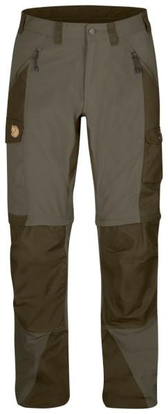 Fjallraven Abisko Zip-Off to spodnie trekkingowe z odpinanymi nogawkami, uszyte ze Stretchu i wytrzymałego materiału G-1000® Original